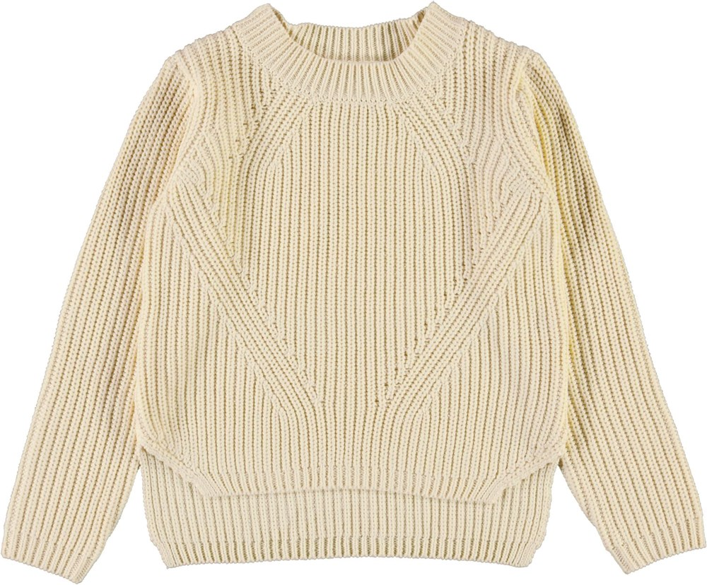 Gillis - Banana Crepe - Light yellow cotton knit top