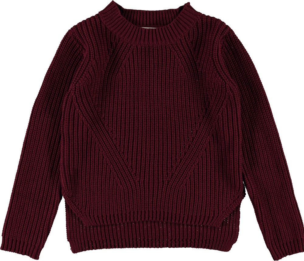 Gillis - Sumak - Dark red knit top