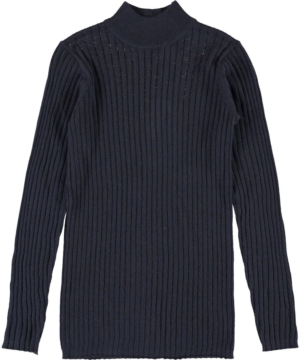 Gitte - Dark Navy - Dark blue thin knit