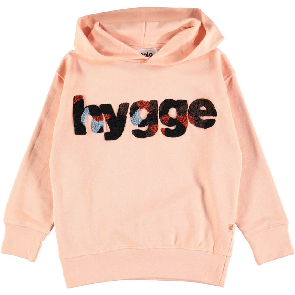 Madelyn - Dusty Pink - Powder coloured hoodie with text