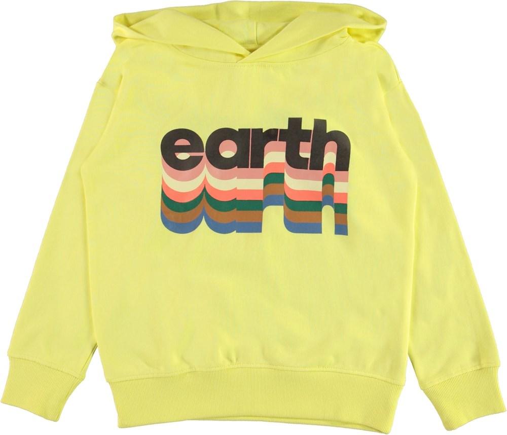 Madelyn - Earth Yellow Light - Yellow organic hoodie Earth