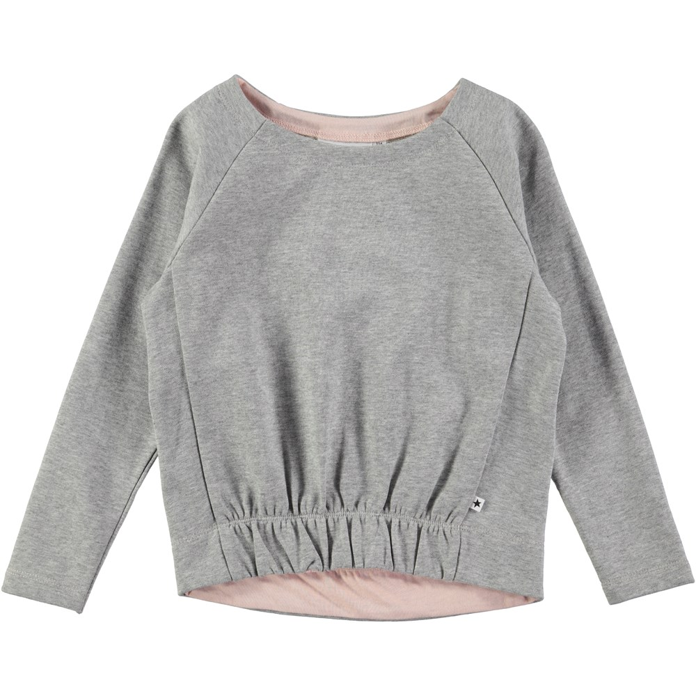 Magnolia - Grey Melange - long sleeve grey sweatshirt