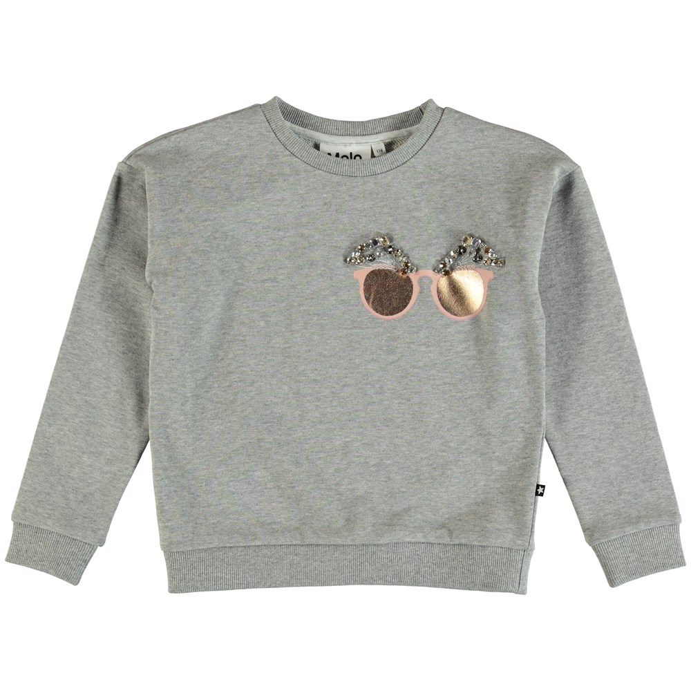Maila - Grey Melange - Sweater - Grey Melange