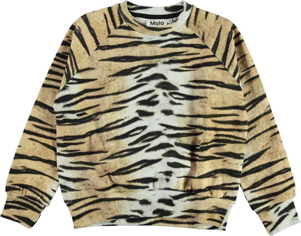 Majana - Wild Tiger Isoli - Organic sweatshirt with tiger stripes