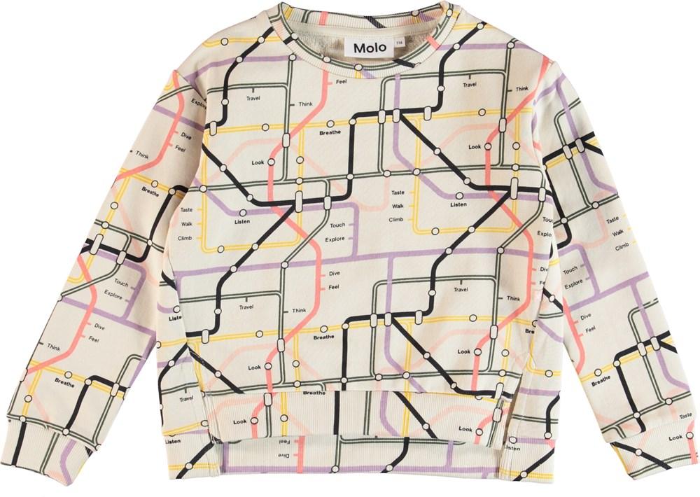 Malissa - Mindmap - Sweatshirt with map print.