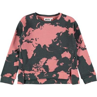 Malissa World Map Sweatshirt With Digital World Map Print Molo