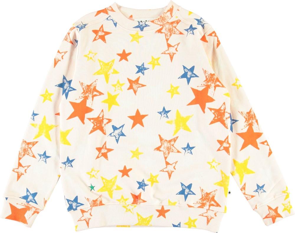 Malvina - Super Stars - Organic sweatshirt with star print