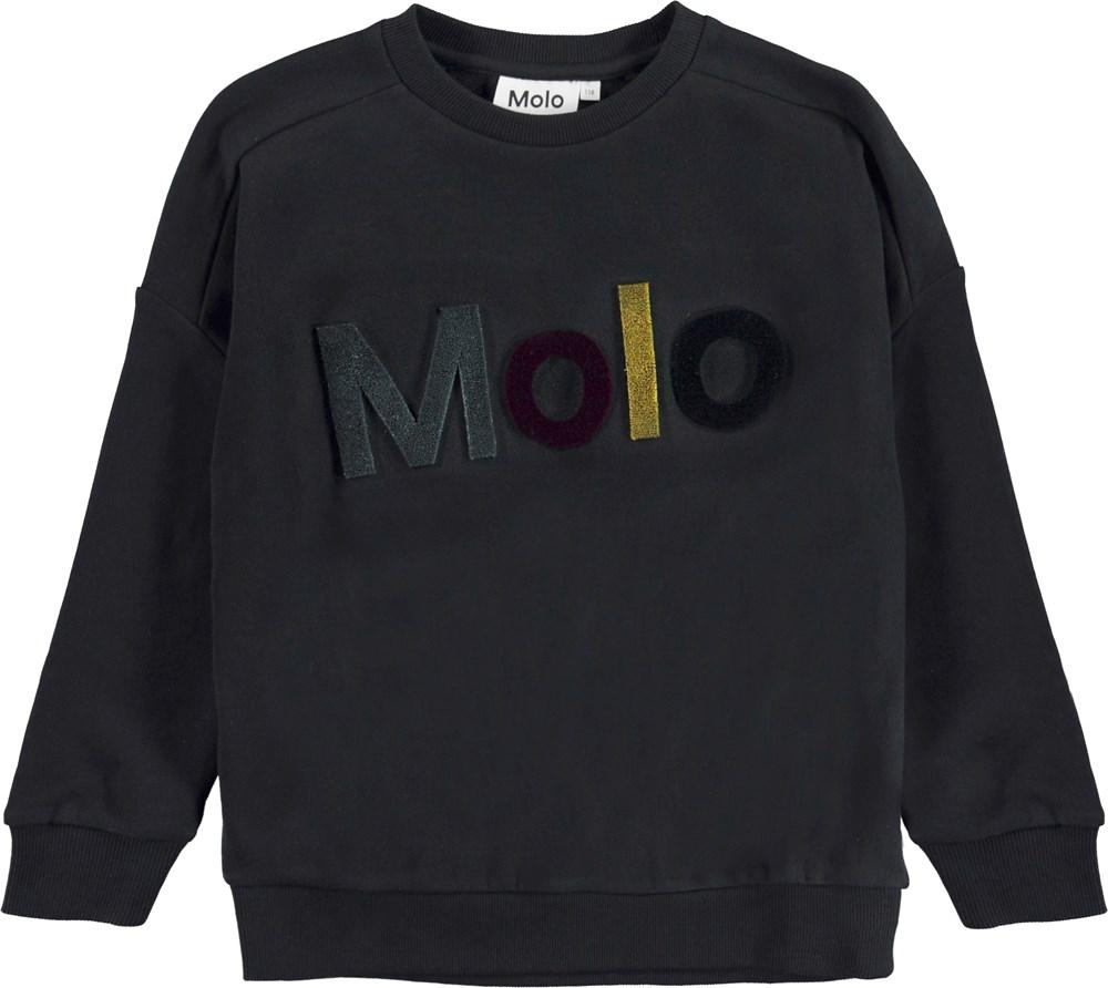 Mandy - Black - Black sweatshirt.