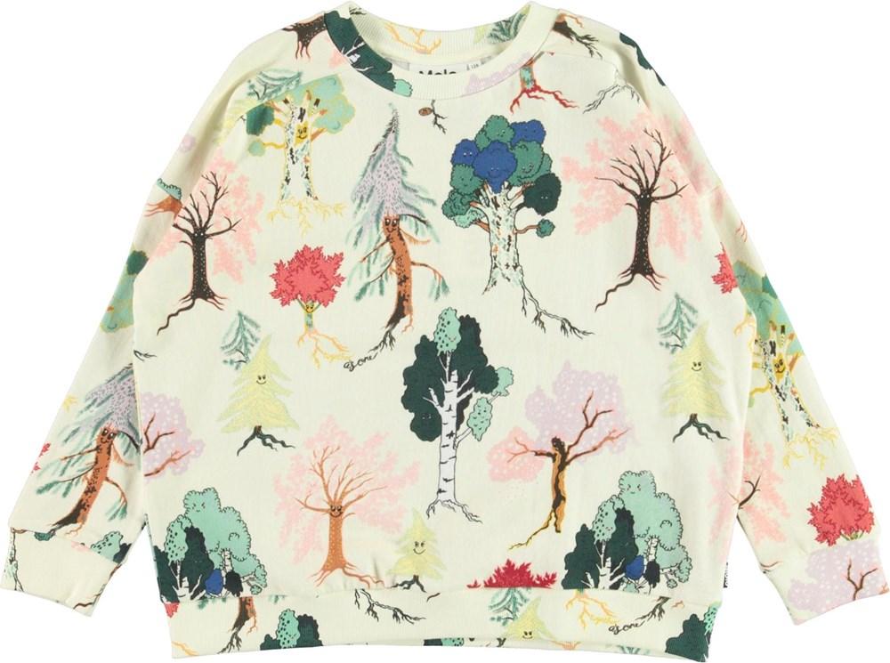Mandy - Forest Friends - Sweatshirt with tree print