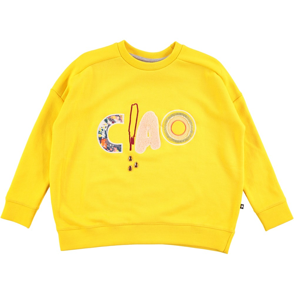 Mandy - Lemon - yellow sweatshirt