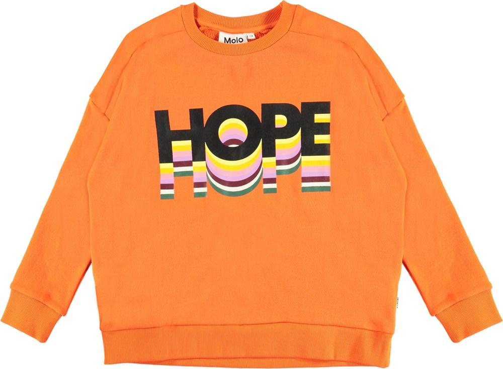 Mandy - Signal Orange - Orange organic hope sweatshirt