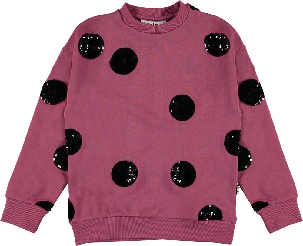 Manon - Sequin Dots - Sweatshirt with sequin clusters