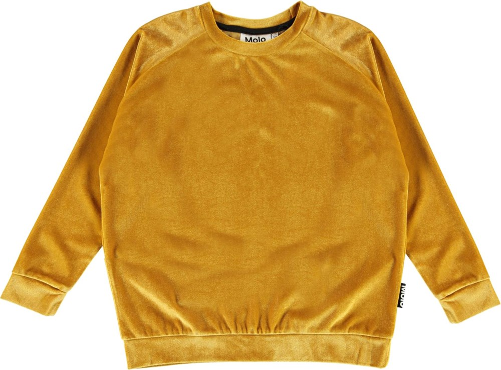 Marilee - Autumn Leaf - Golden velour sweatshirt