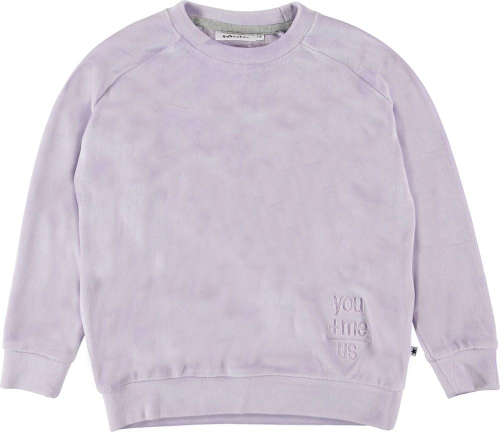 Marilee - Frozen Lilac - purple velor sweatshirt
