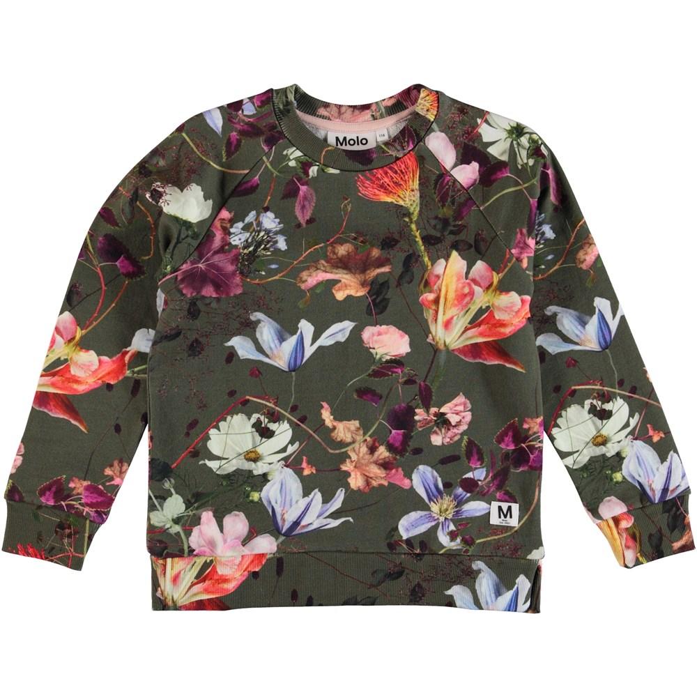 Marina - Evergreen Flowers - Flower sweatshirt.