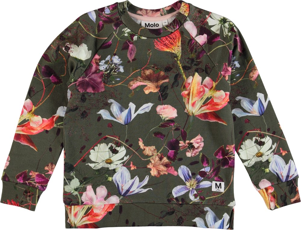 Marina - Evergreen Flowers - Flower sweatshirt.