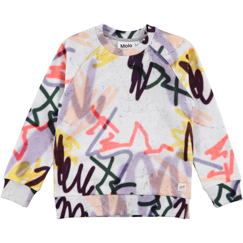 Marina - Graffiti - long sleeve sweatshirt with grafitti print