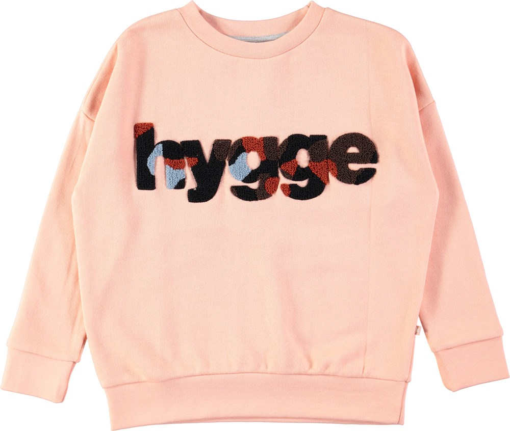Maxi - Dusty Pink - Powder coloured sweatshirt with text