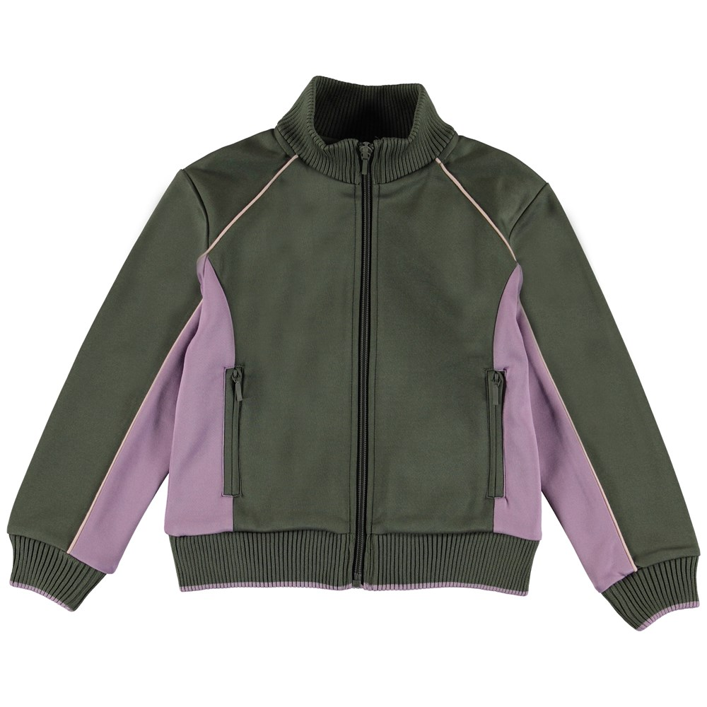 Merle - Evergreen - Two-coloured tracksuit top.
