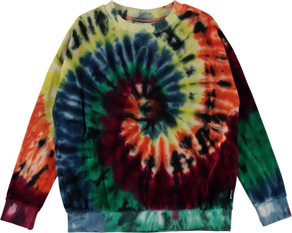 Mika - Autumn Swirl - Tie-dye velour sweatshirt