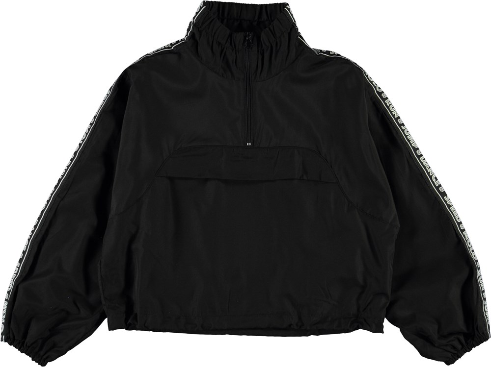 Odele - Black - Black anorak with text