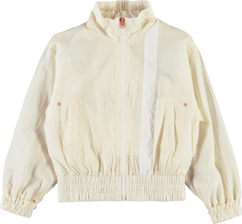 Olena - Pearled Ivory - Light yellow sports track jacket
