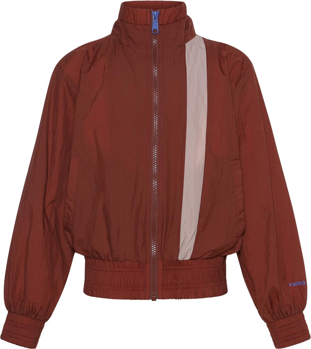 Olena - Rosewood - Brown sports jacket with rose stripe