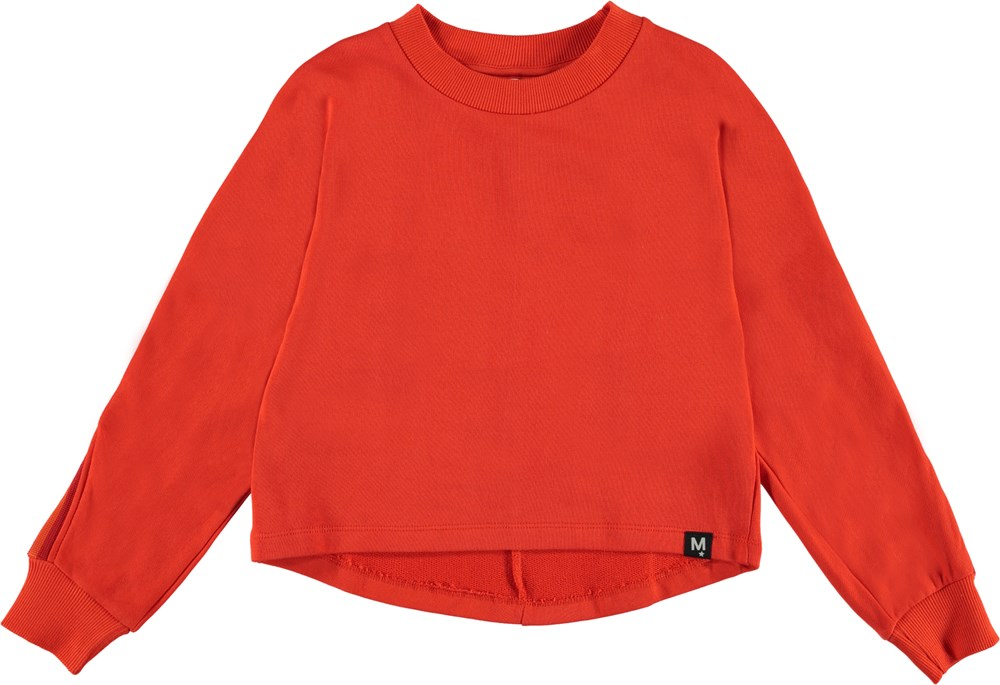 Opal - Coral Red - Red sporty sweatshirt