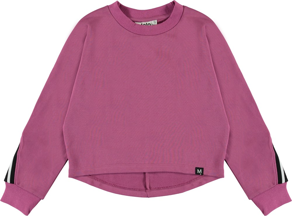 Opal - Red Violet - Violet sweatshirt with text