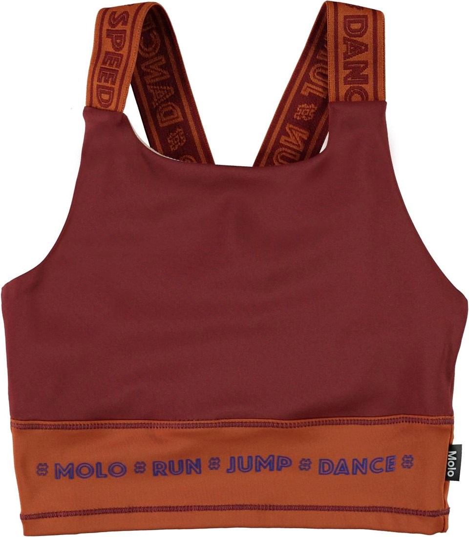 Oliva - Block Autumn - Sports top in brown with text