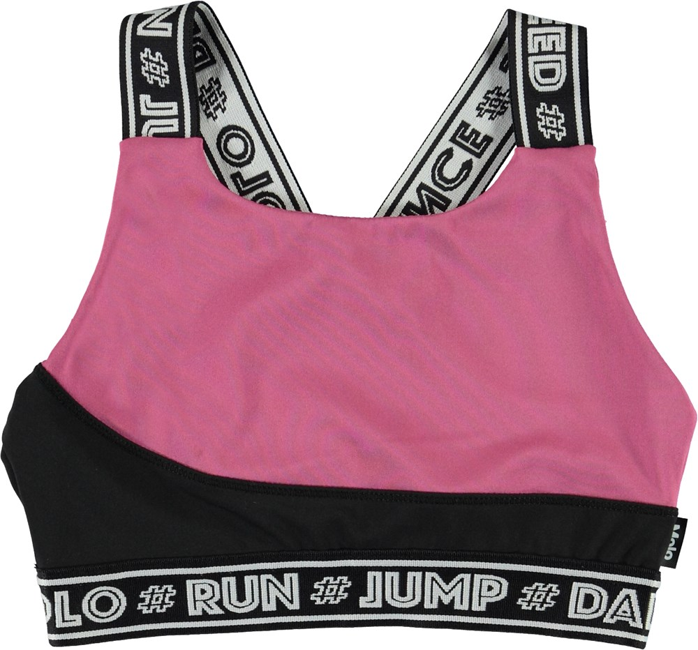 Olivia - Colour Block - Short, black and pink sports top