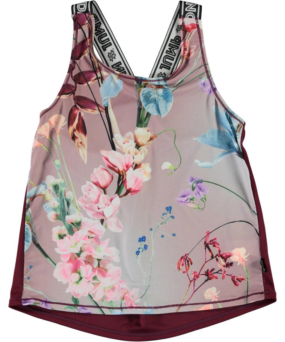 Oriana - Motion Flowers - Sports top in a floral print