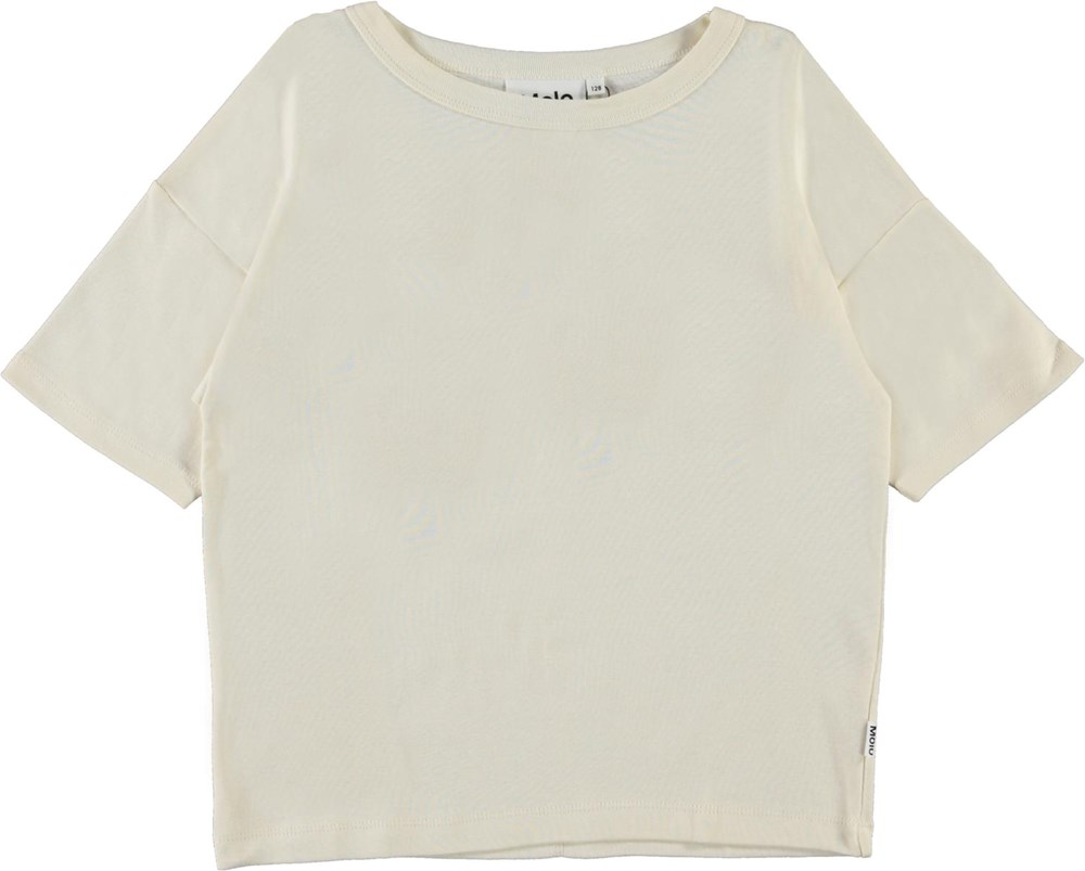 Rabecke - Pearled Ivory - Mother of pearl organic t-shirt