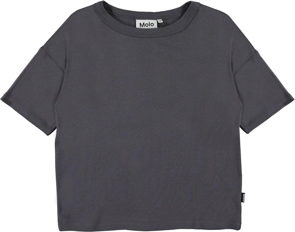 Rabecke - Purple Night - Dark purple organic t-shirt
