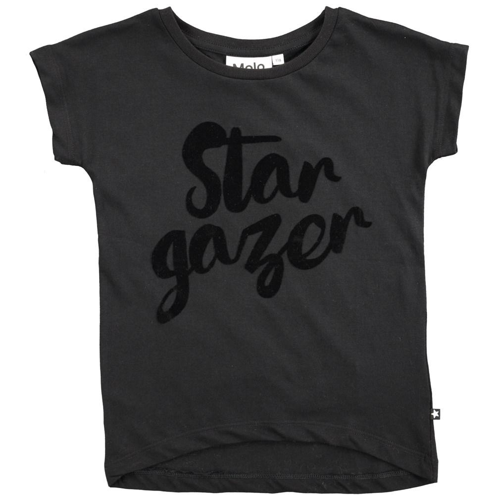 Ragnhilde - Black - short sleeve black t-shirt