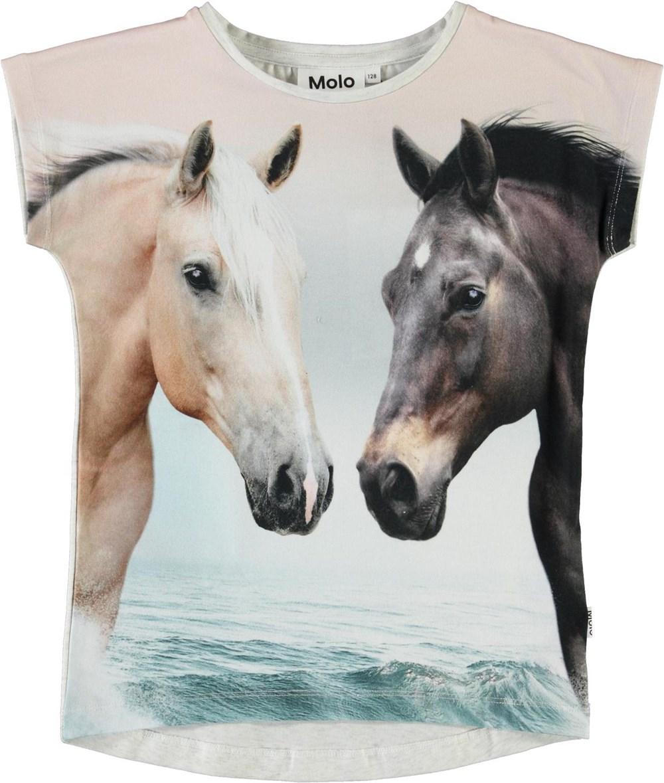 Ragnhilde - Horse Friends - Organic t-shirt with horse print
