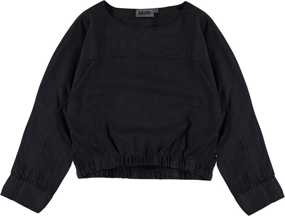 Raisi - Black - Black crop top with ties