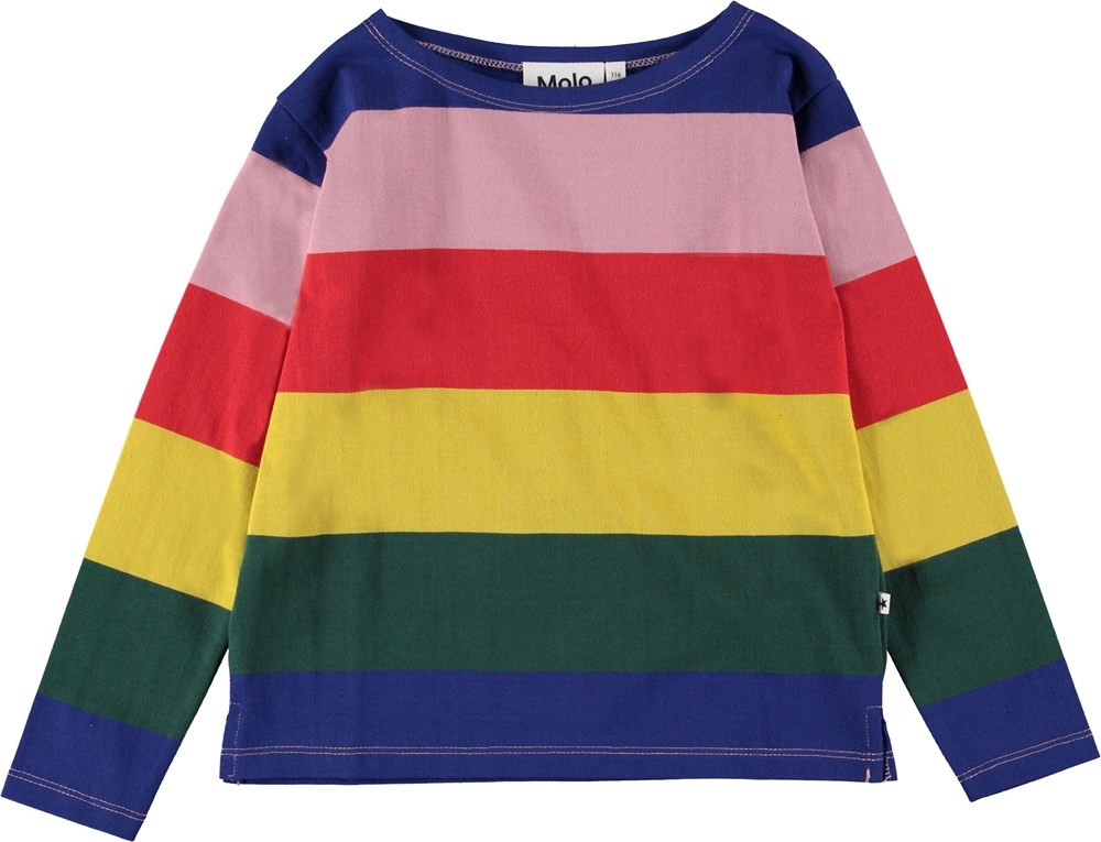 Ramilah - Midwinter Rainbow - Long sleeve top in rainbow colours.
