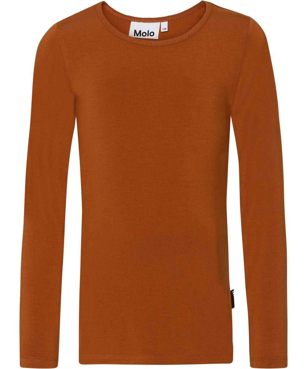Ramona - Autumn - Brown jersey top