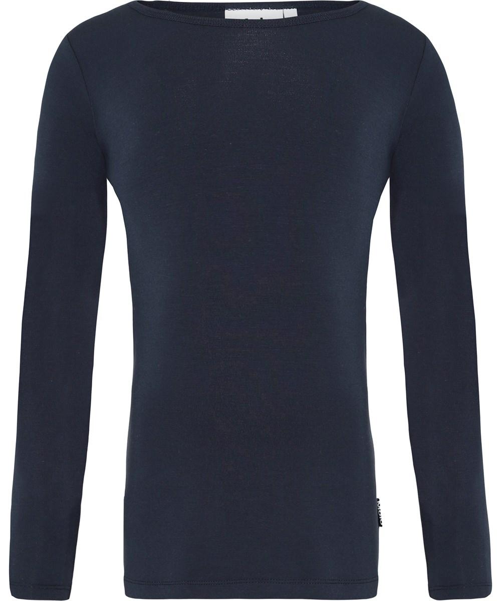 Ramona - Dark Navy - Dark blue jersey top
