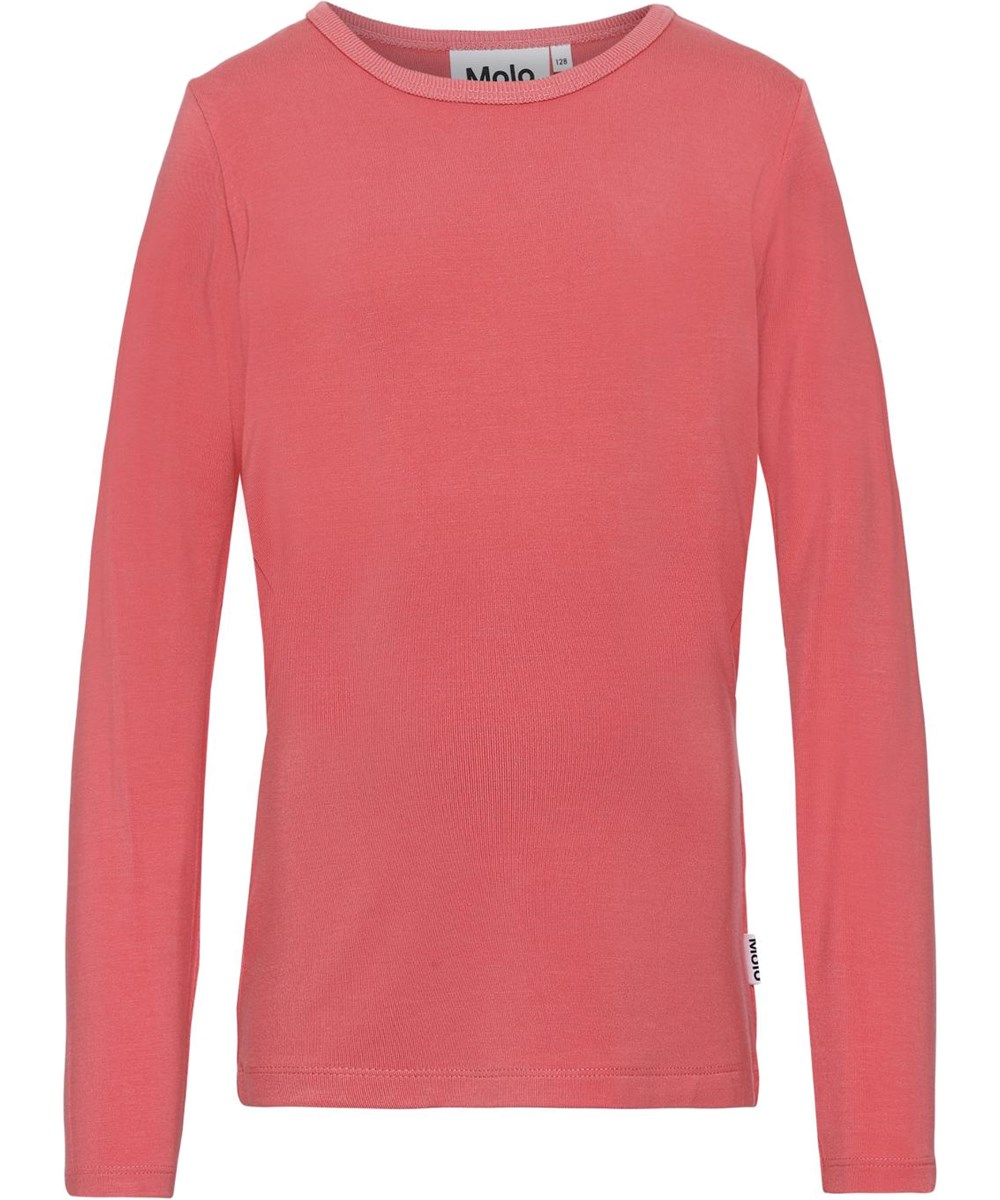 Ramona - Poppy - Long sleeve coral red top