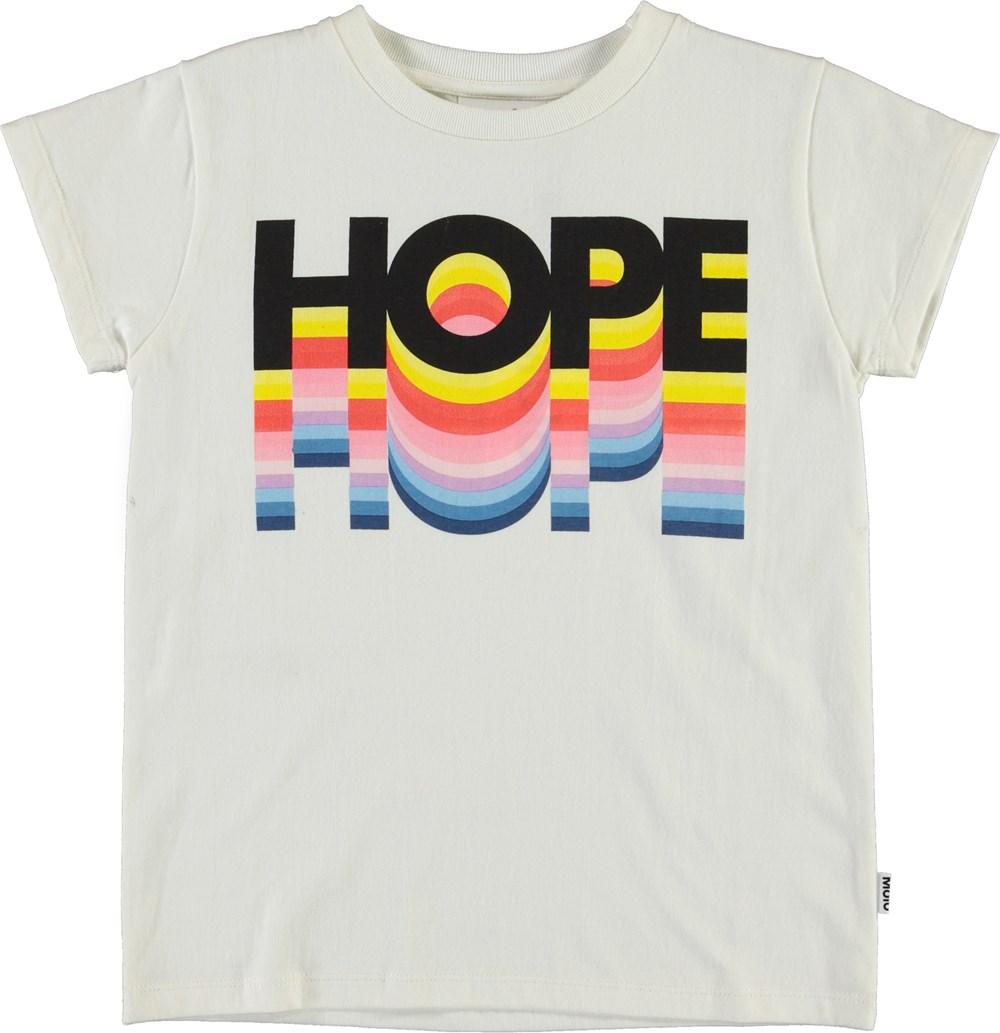 Ranva - Hope Rainbow Tee - Organic hope rainbow t-shirt