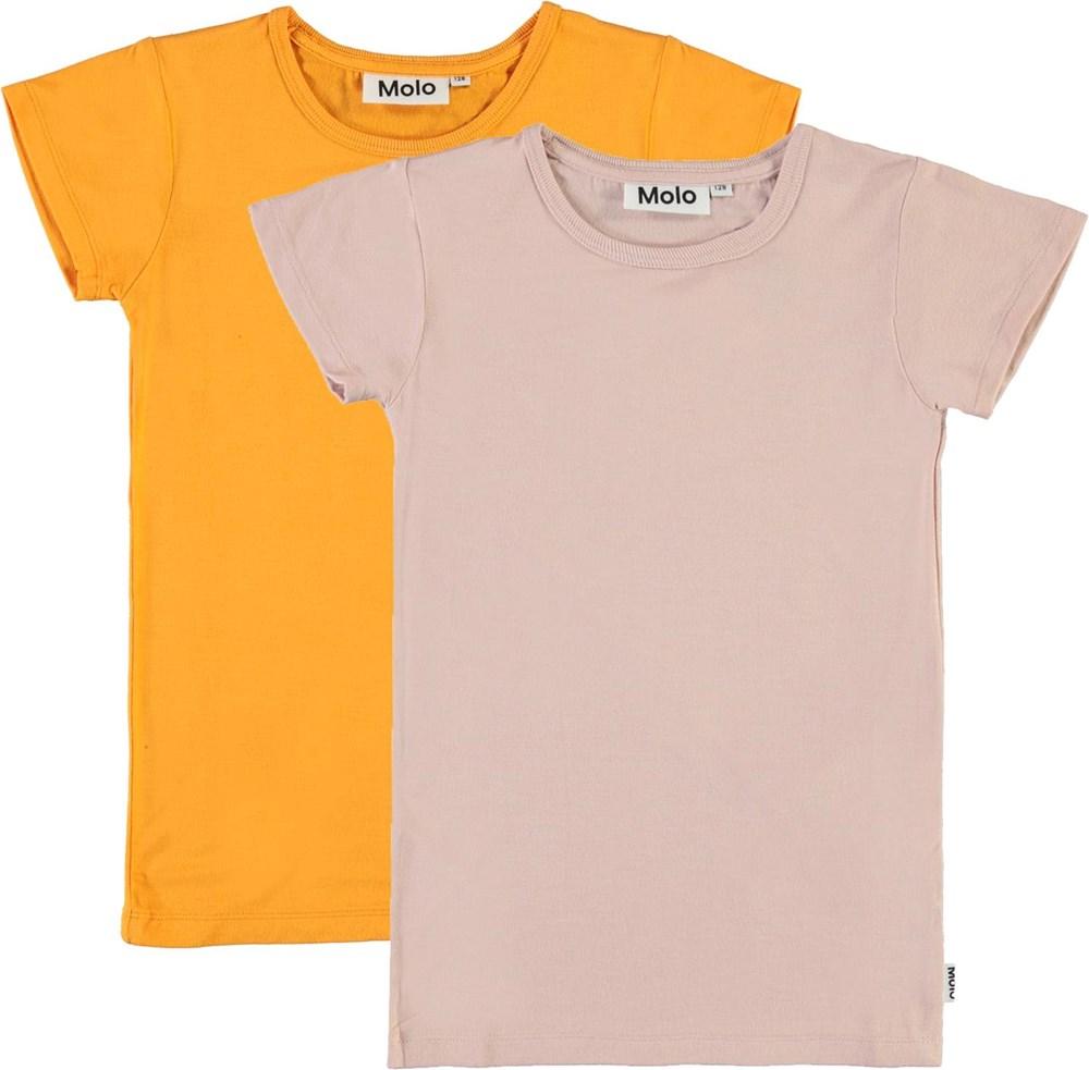 Rasmine 2-Pack - Tangerine Blush - Orange and rose t-shirt