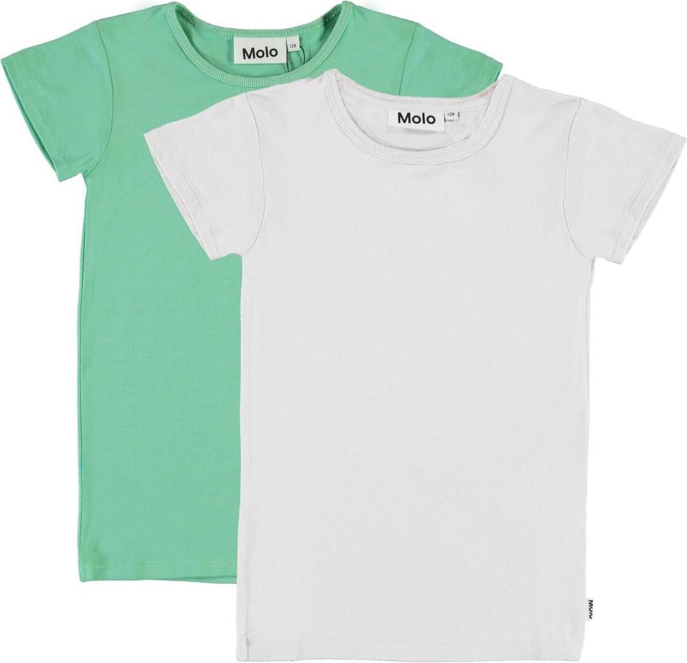 Rasmine 2-Pack - White Pistachio - White and green t-shirt