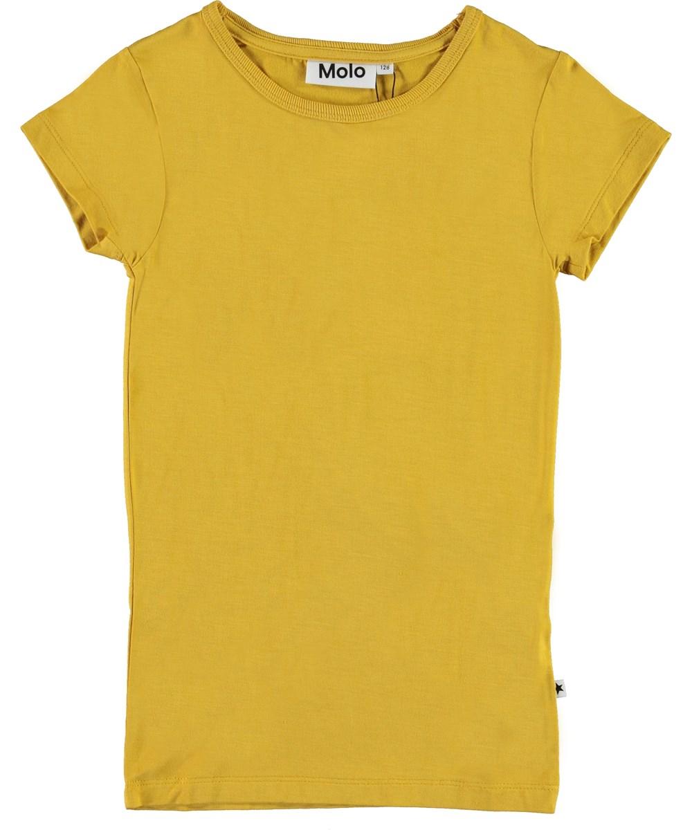 Rasmine - Afternoon Sun - Yellow basic t-shirt