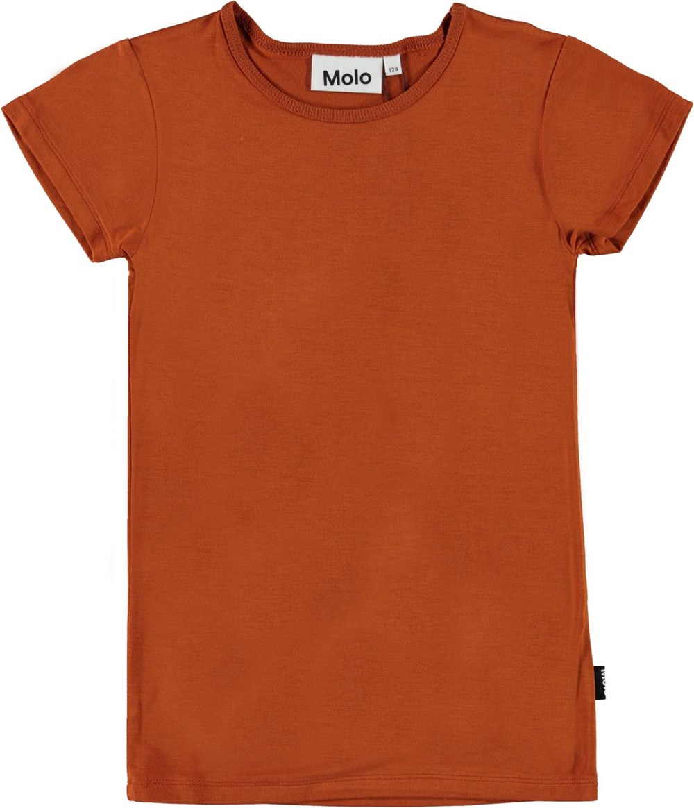 Rasmine - Autumn - Brown organic t-shirt