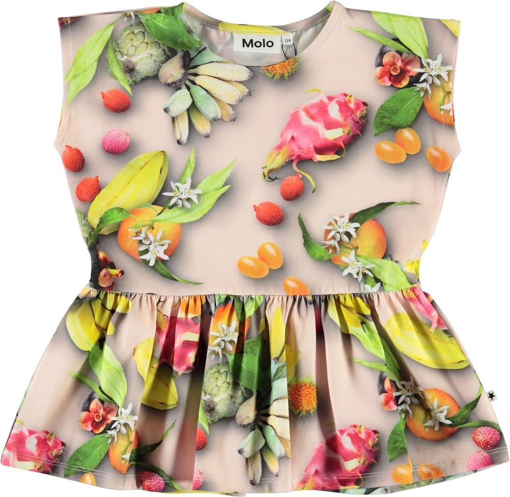 Rayna - Tutti Frutti - Fruit t-shirt with peplum