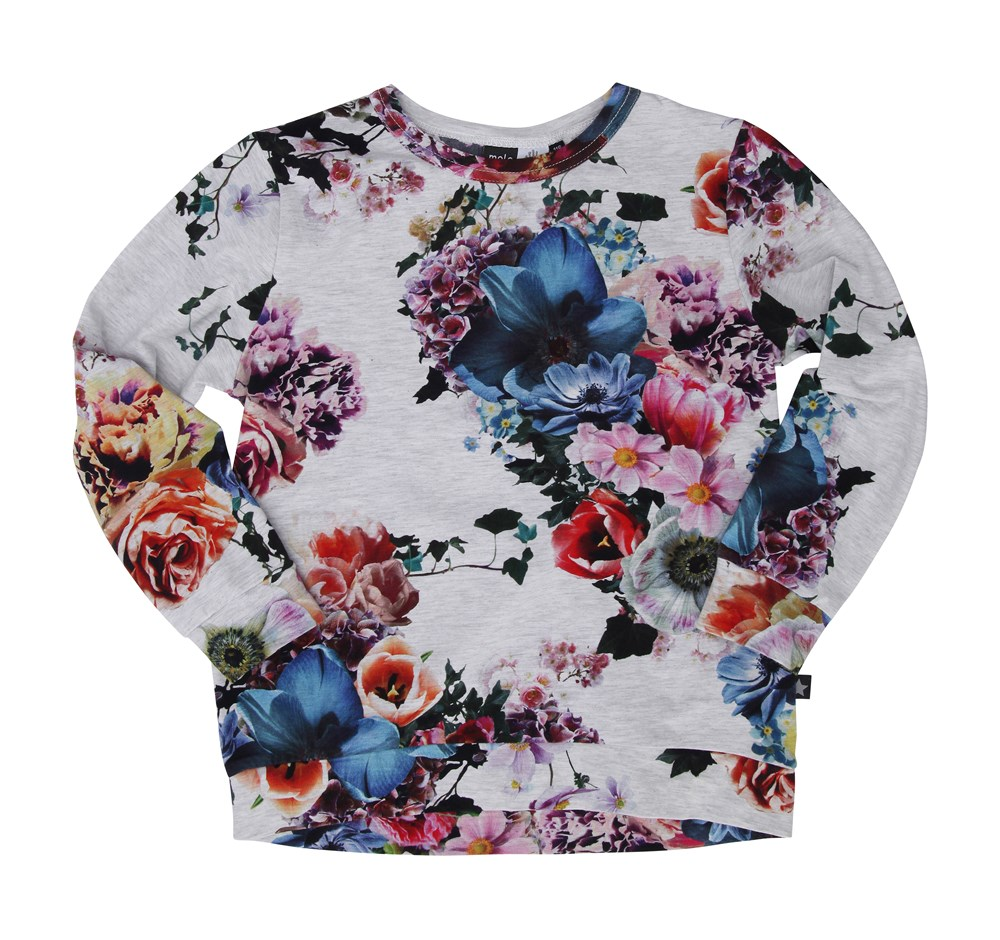Reba - Floral - molo long sleeved T-shirt with print