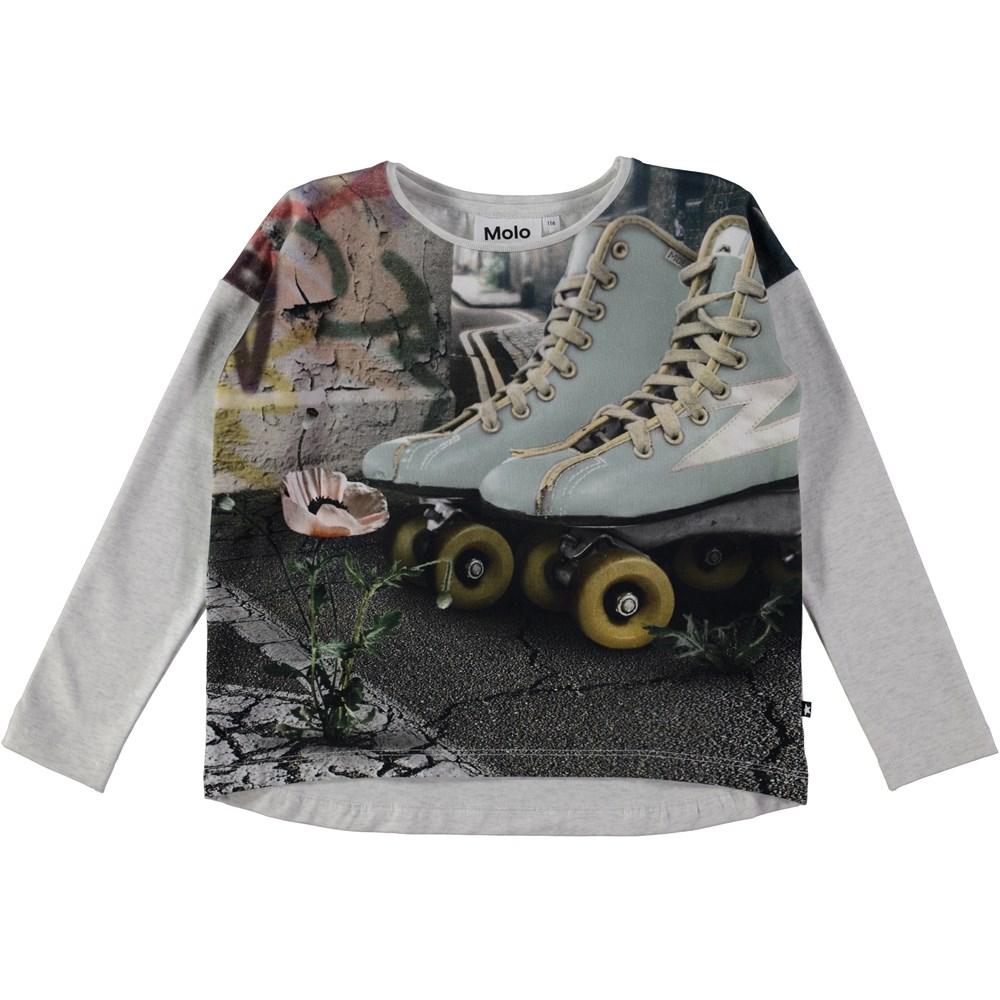 Renate - Roller - Long sleeve top with rollerskate print