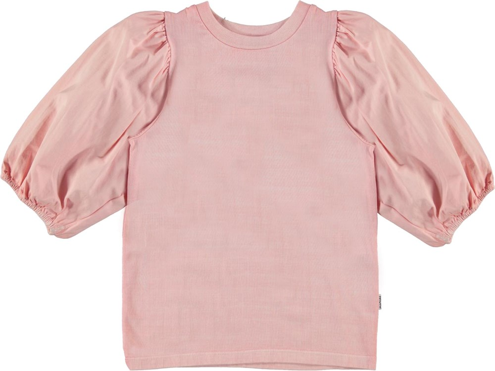 Rica - Rosequartz - Organic top with puff sleeves